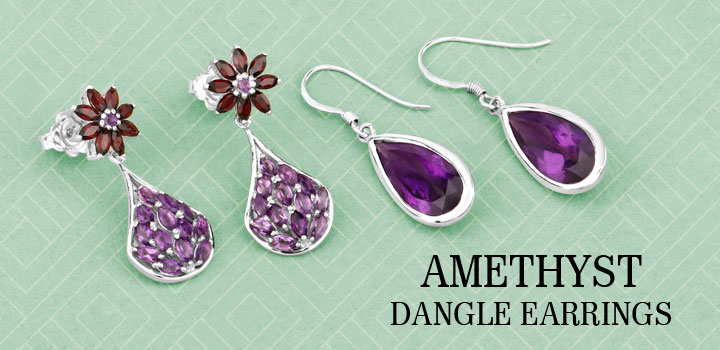 Amethyst Dangle Earrings!