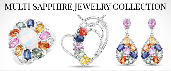 Multi Sapphire Jewelry Collection
