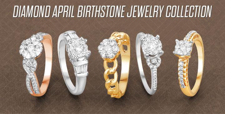 Diamond April Birthstone Jewelry Collection