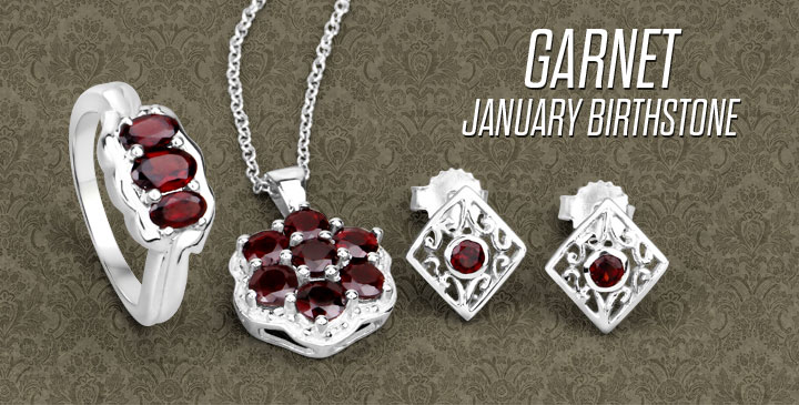 Garnet January Birthstone Jewelry Collection